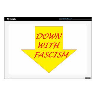 Down with Fascism Laptop Skin