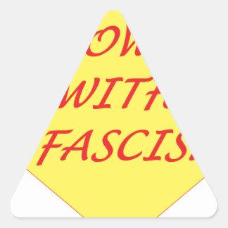 Down with Fascism Triangle Sticker