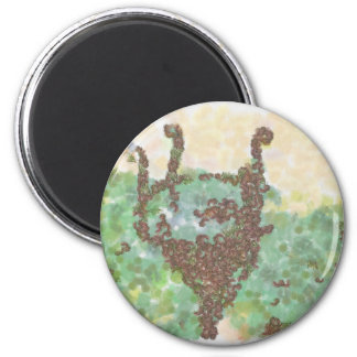 Down with the monarchy 2 inch round magnet