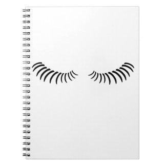 Downcast Eye Lashes Notebook