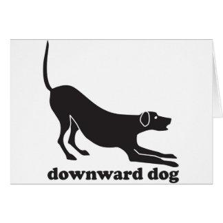 downdog_dog greeting card