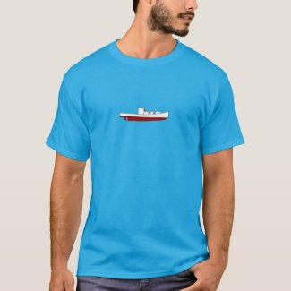 Downeast Maine Lobster Boat Color Illustration T-Shirt