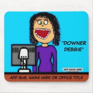 Downer Debbie Cartoon Mouse Pad