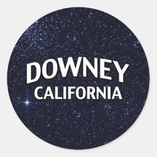 Downey California Classic Round Sticker