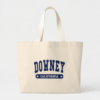 Downey California College Style tee shirts Canvas Bags