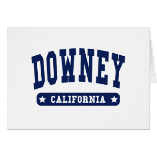 Downey California College Style tee shirts Card