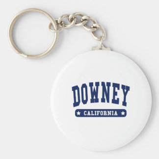 Downey California College Style tee shirts Key Chains