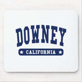 Downey California College Style tee shirts Mouse Pads