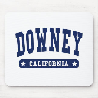 Downey California College Style tee shirts Mousepad