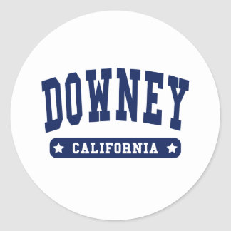 Downey California College Style tee shirts Sticker