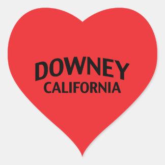 Downey California Heart Sticker
