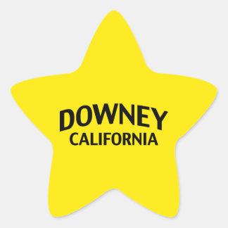 Downey California Star Sticker