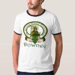 Downey Clan Motto Badge Tee