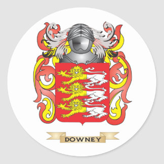 Downey Coat of Arms Classic Round Sticker