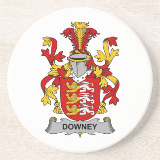 Downey Family Crest Coasters