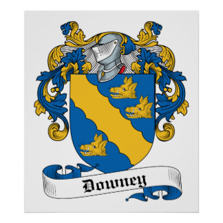 Downey Family Crest Poster