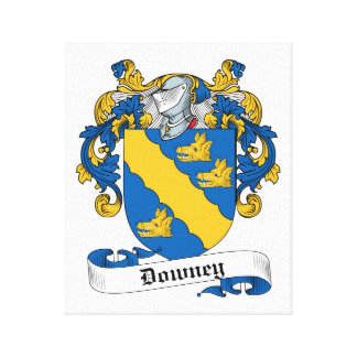 Downey Family Crest Stretched Canvas Prints
