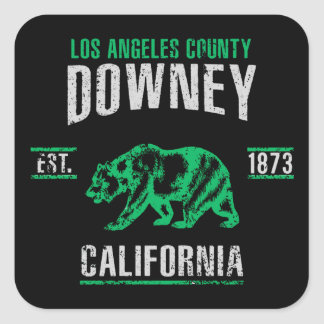 Downey Square Sticker