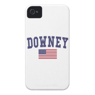 Downey US Flag Case-Mate iPhone 4 Case