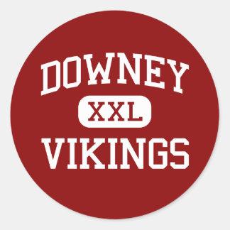 Downey - Vikings - High School - Downey California Classic Round Sticker