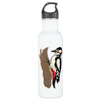 Downey Woodpecker Water Bottle
