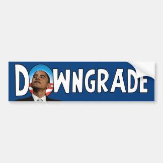 Downgrade - Anti Obama Bumper Sticker