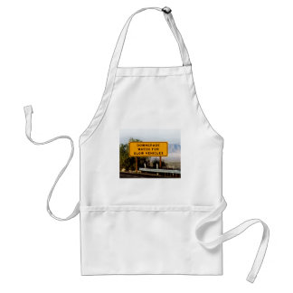 Downgrade Slow Vehicles Adult Apron