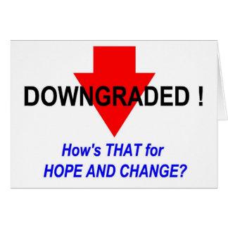 DOWNGRADED! CARD