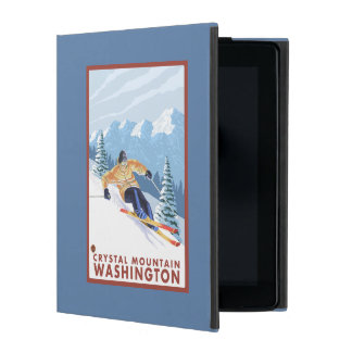 Downhhill Snow Skier - Crystal Mountain, WA iPad Cases