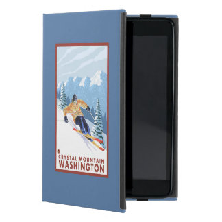Downhhill Snow Skier - Crystal Mountain, WA iPad Mini Cover