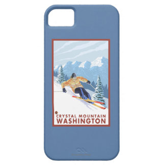 Downhhill Snow Skier - Crystal Mountain, WA iPhone SE/5/5s Case