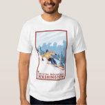 Downhhill Snow Skier - Crystal Mountain, WA T-shirt