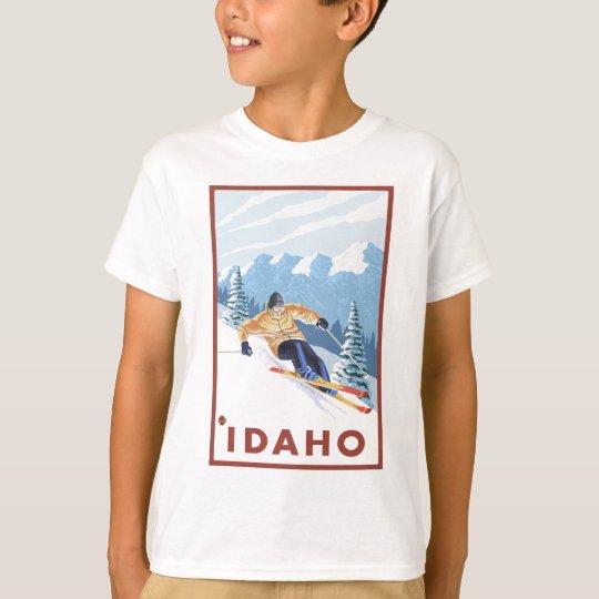 Downhhill Snow Skier - Idaho T-Shirt
