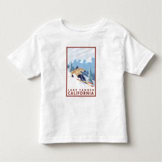 Downhhill Snow Skier - Lake Tahoe, California Toddler T-shirt