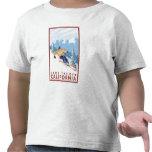 Downhhill Snow Skier - Lake Tahoe, California Tshirt