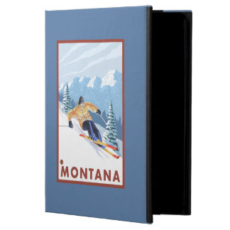 Downhhill Snow Skier - Montana Cover For iPad Air