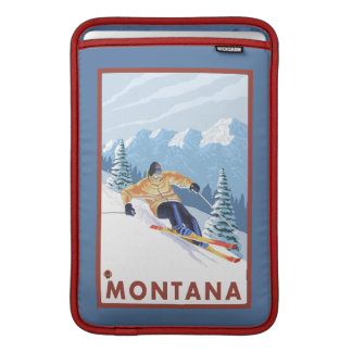 Downhhill Snow Skier - Montana MacBook Sleeve