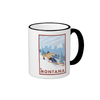 Downhhill Snow Skier - Montana Mug