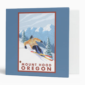 Downhhill Snow Skier - Mount Hood, Oregon Binder
