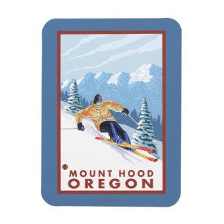 Downhhill Snow Skier - Mount Hood, Oregon Magnet