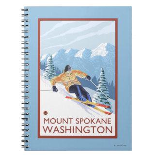 Downhhill Snow Skier - Mount Spokane, Notebooks