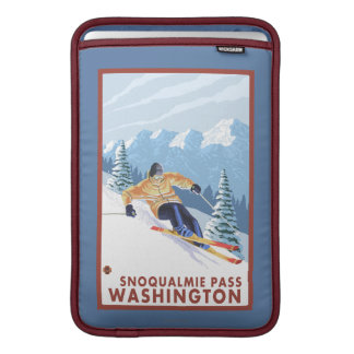 Downhhill Snow Skier - Snoqualmie Pass, WA MacBook Air Sleeve