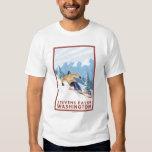 Downhhill Snow Skier - Stevens Pass, T Shirt