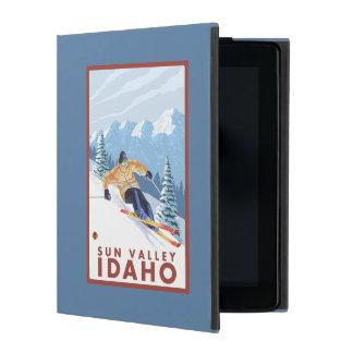 Downhhill Snow Skier - Sun Valley, Idaho iPad Cover