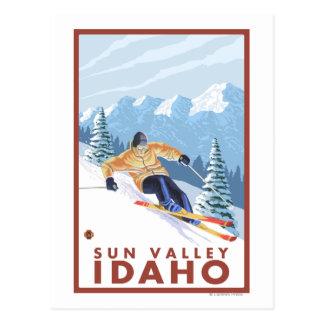 Downhhill Snow Skier - Sun Valley, Idaho Postcards