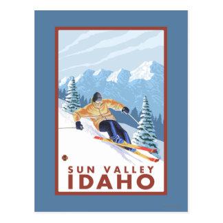 Downhhill Snow Skier - Sun Valley, Idaho Postcard