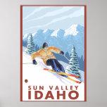 Downhhill Snow Skier - Sun Valley, Idaho Posters