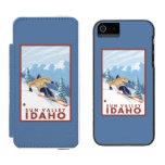 Downhhill Snow Skier - Sun Valley, Idaho Incipio Watson™ iPhone 5 Wallet Case