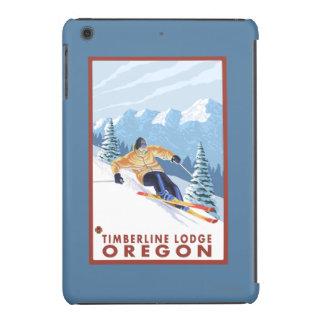 Downhhill Snow Skier - Timberline Lodge, Oregon iPad Mini Retina Cases