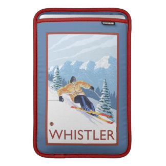 Downhhill Snow Skier - Whistler, BC Canada MacBook Air Sleeve